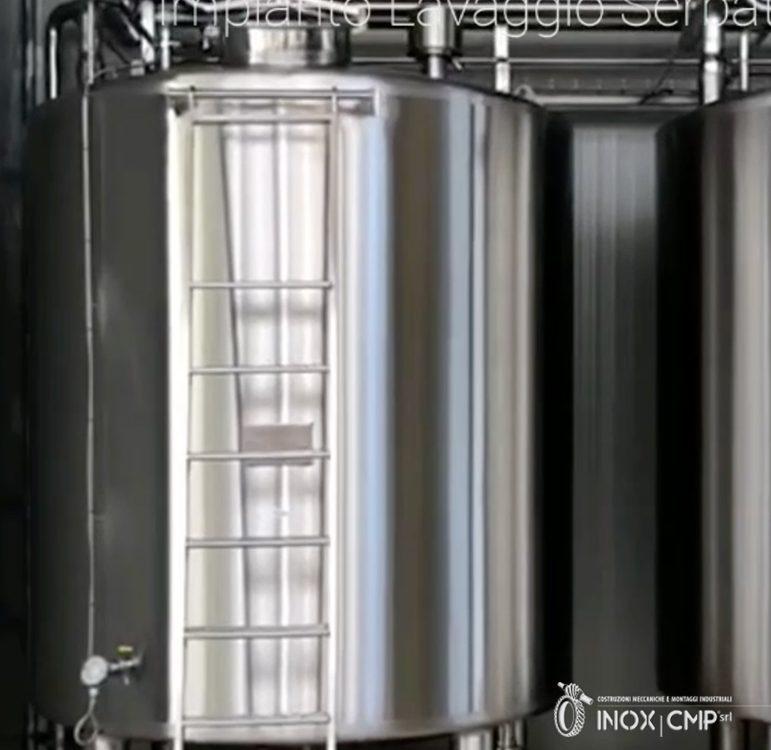 Impianto Cip Lavaggio Serbatoio Inox Cmp srl ©
