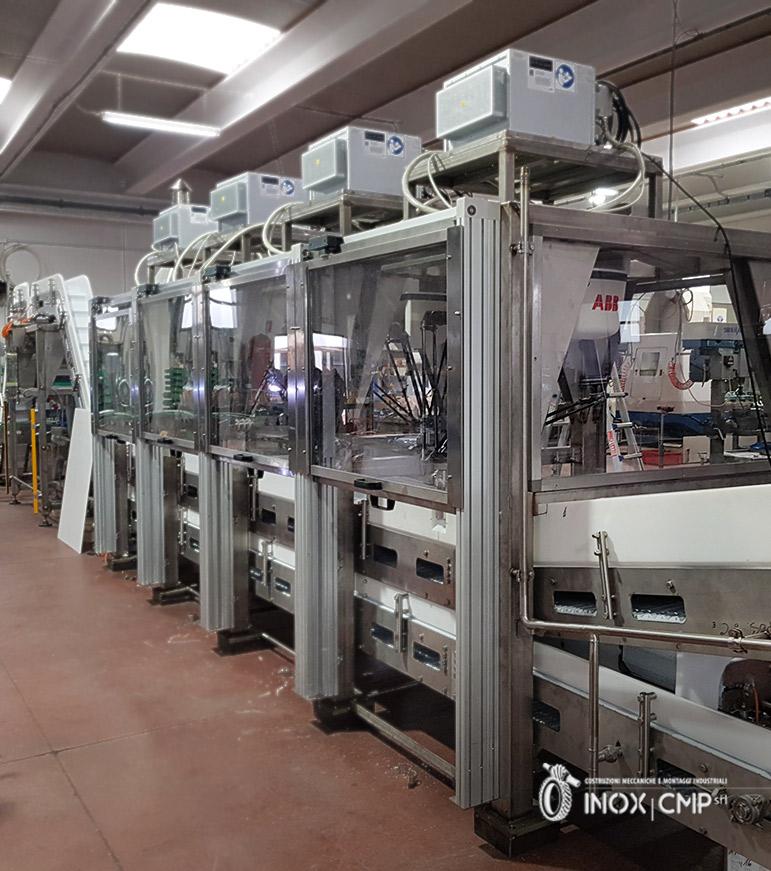 Linea Automatica 2 di confezionamento Astucci di Prodotti Alimentari Surgelati•Inox-Cmp-srl©