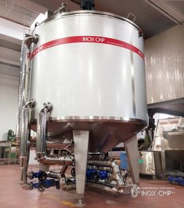 Tank in steel inox iasi 304 for cooking system for the production of crepes • Inox Cmp srl