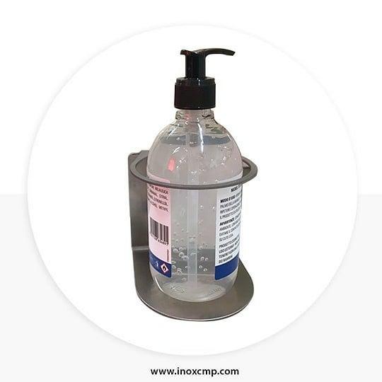 supporto muro dispenser gel igienizzante bottiglia vari formati in acciaio inox - inoxcmpsrl - 06