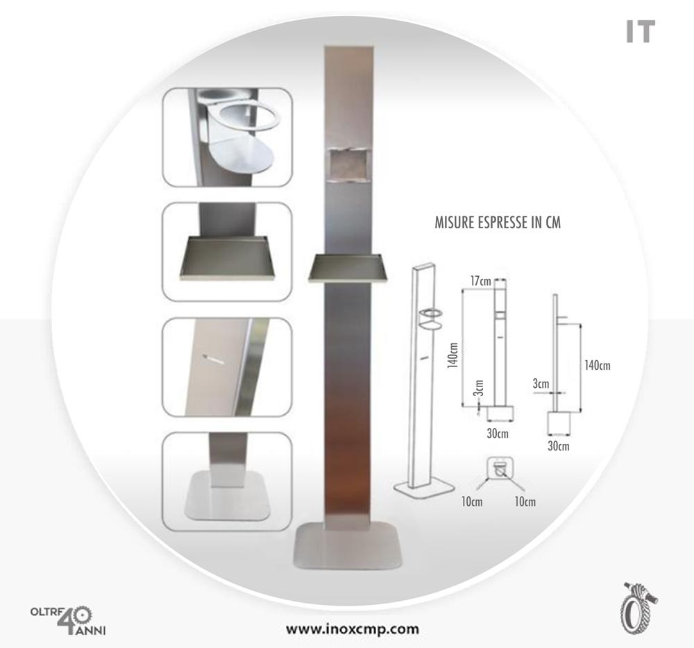 colonnina-porta-dispenser-igienizzante-inox-cmp-srl