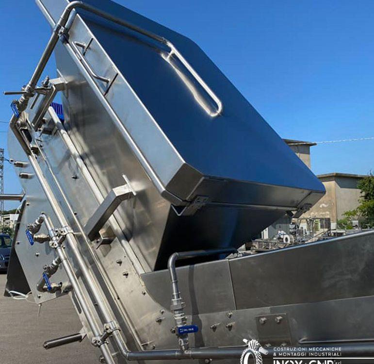 Gooseneck conveyor belt - Project by Inox | Cmp srl ©